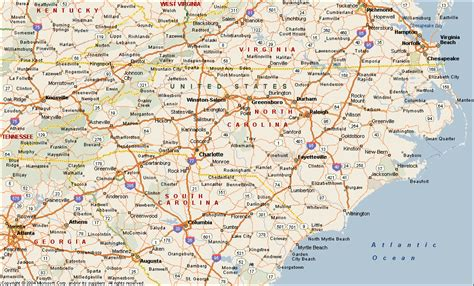 map of carolina cities carolina map