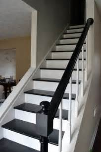 Black Stair Treads by Black Stair Treads And Handrail Stairs Staircase