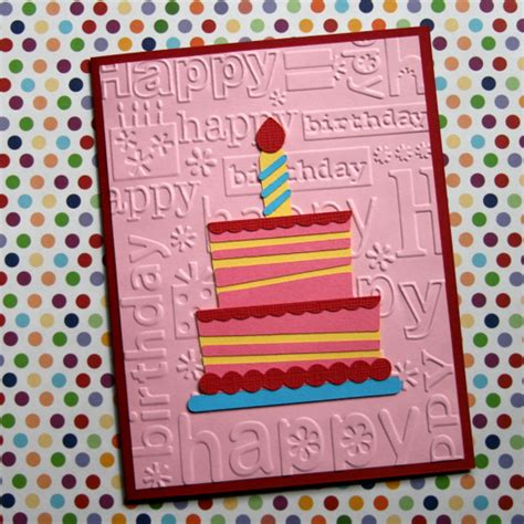 happy birthday card think crafts by createforless