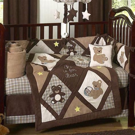 Teddy Bear Chocolate And Cream Quilt Idea Baby Teddy Crib Bedding