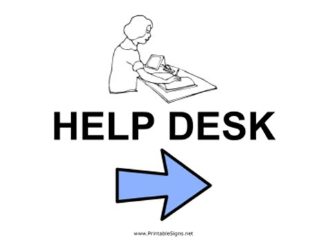 printable help desk right sign