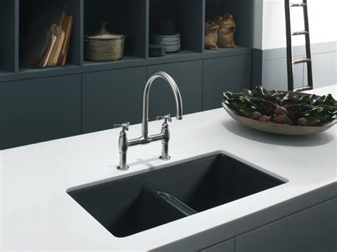 Countertop Kitchen Sink by Undercounter Sink White Kitchen Black Countertop With