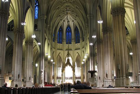 st s amazing aerial and interior photos of st s cathedral in new york places