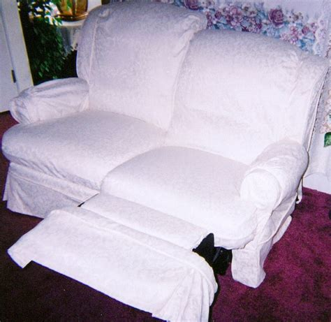 reclining loveseat cover white reclining loveseat slipcover my slipcover