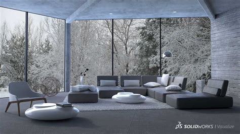 Cad Interior Design solidworks visualize rendering tool for engineers