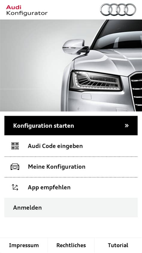 Audi A4 Konfigurieren by Audi Konfigurator Deutschland Android Apps On Play