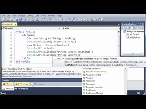 basic programming tutorial visual basic visual basic tutorial 20 substrings coders website