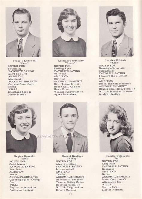year book picture duryea pennsylvania historical homepage 1952 duryea high