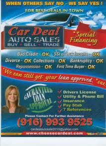 Auto Dealer Financing Deals Used Cars Trucks Specials Sacramento Ca 95841 Car