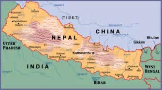 World Map Of Nepal by Nepal Maps