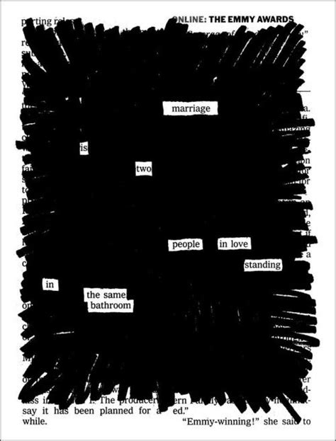 Blackout poetry activity tying into the theme of