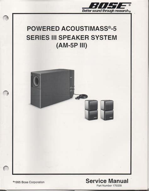bose  stereo  speaker service manual