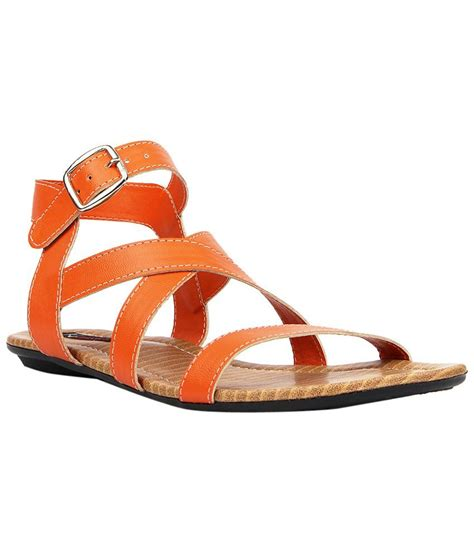 orange sandals for kz classics orange beige flat sandals for price in