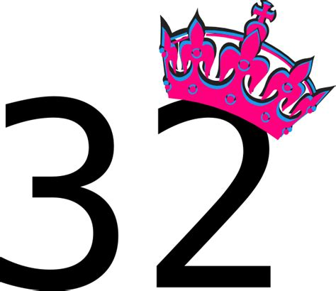 Yellow Paint by Pink Tilted Tiara And Number 32 Clip Art At Clker Com