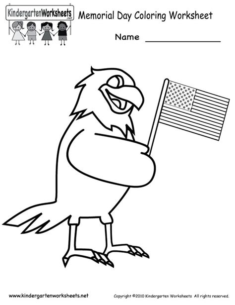 patriotic coloring pages preschool 8 best memorial day worksheets and activities images on