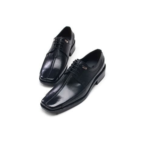 flat sole formal shoes mens flat square toe leather dress shoes