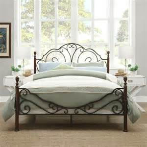 Overstock Bed Frame Tribecca Home Leann Graceful Scroll Bronze Iron Bed Frame