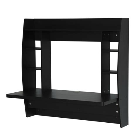 black wall mounted desk floating wall mounted computer desk black office writing