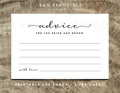 advice for the cards template advice for the and groom cards wedding advice cards