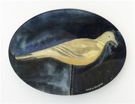Decorative Glass Plates by Parivolia Italian Decoy Oval Decorative Glass Plate By