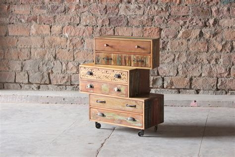 little tree furniture shimla eclectic 6 drawer multi chest shimla upcycled 6 multi drawer storage chest little tree