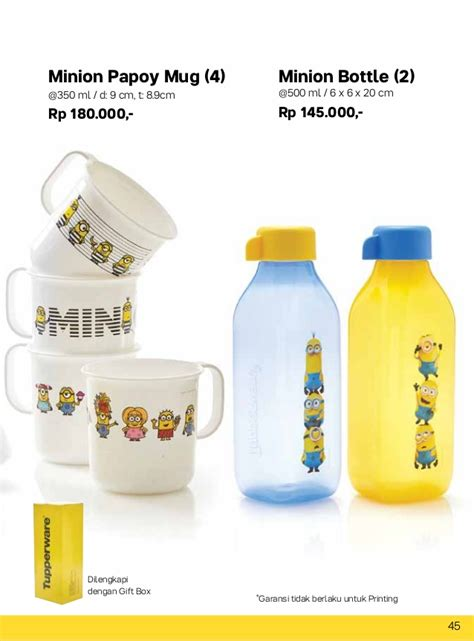 Minion Bottle Tupperware Purwakarta 087837805779 Tupperware 2017 Oktober Katalog Tupperware