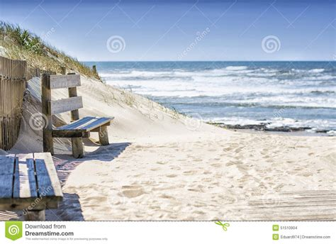 bench on the beach bench on the beach stock photo image 51510904