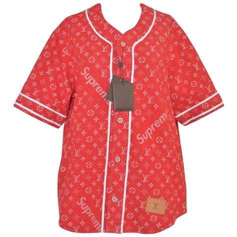 Jersey Superior Printing supreme x louis vuitton all monogram denim baseball jersey sz medium for sale at 1stdibs