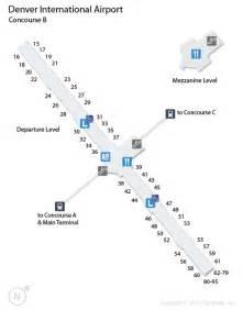 denver airport map us airways den denver international airport terminal map