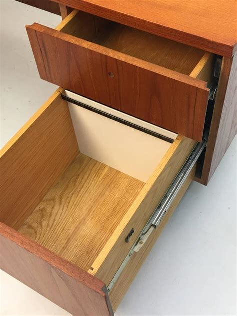 low profile desk l rare custom thin edge and low profile teak desk on custom
