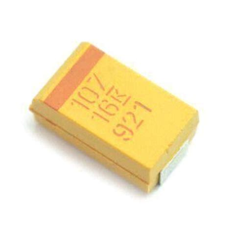 capacitor smd codigo smd tantalum capacitor standard type rohs directive compliant 100uf 16v d 10