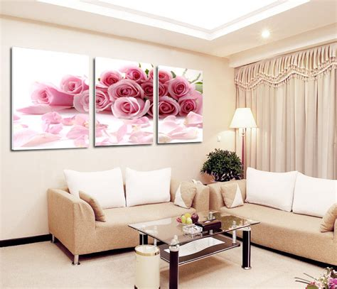 2015 new pink canvas painting free shipping