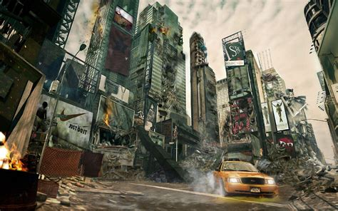 And The City Back On by Destroyed City Backgrounds Wallpaper Cave