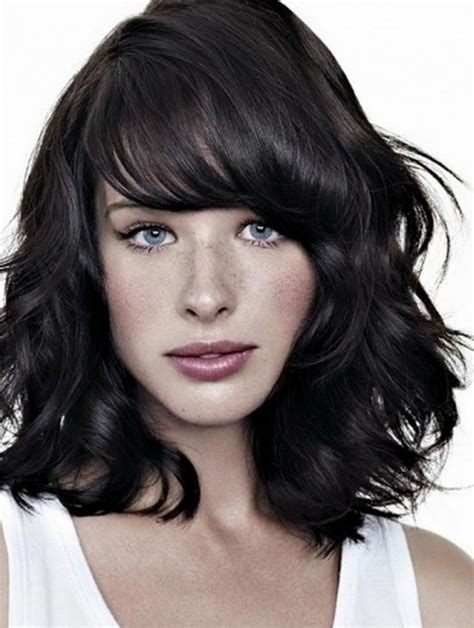 shoulder length layered longer in front hairstyle bridal hairstyle and makeup layered hairstyles for medium