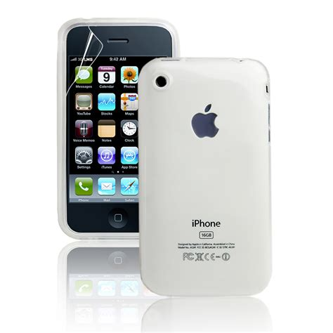 Casing Hp Iphone 3gs white transparent gel silicone for iphone 3 3gs