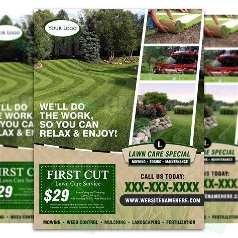 design flyers near me lawn care flyer design 4 the lawn market