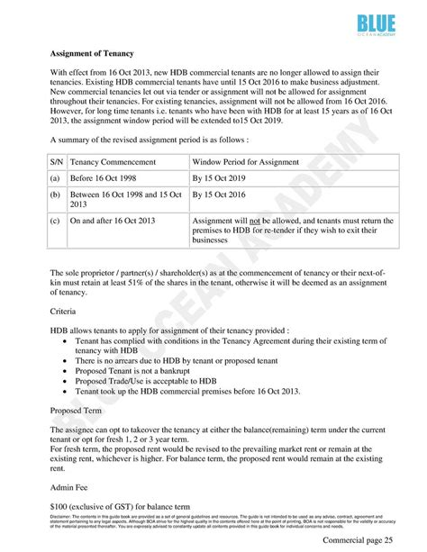 Termination Of Tenancy Agreement Letter Singapore Eguide Book Commercial Property Simplebooklet
