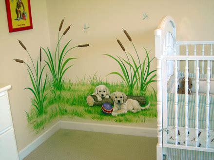 Dog Wall Murals dog themed nursery murals
