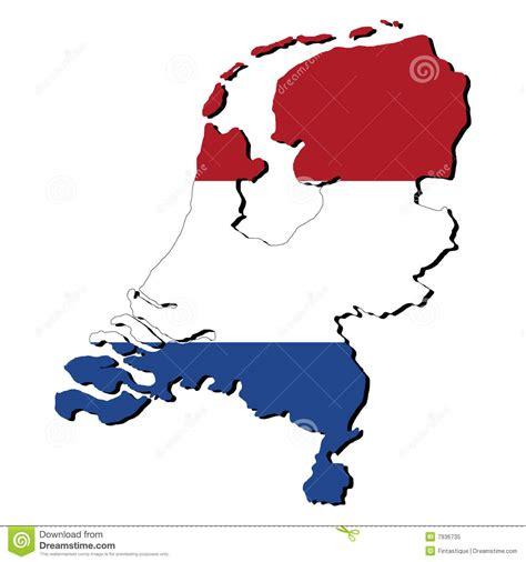 netherlands map and flag netherlands map flag stock illustration illustration of