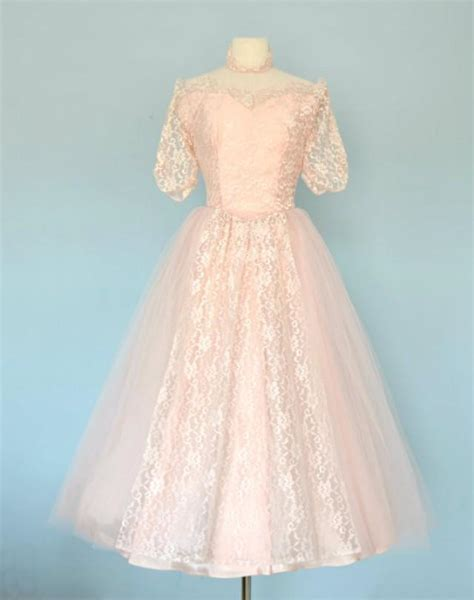 Brautkleid Mittellang by Vintage 1950s Wedding Dress Ballerina Length Wedding