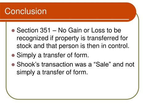 section 351 transfer ppt intermountain lumber company v commissioner