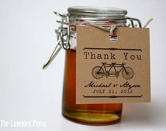 Jam Aa4 rustic wedding favor tag printable thank you tag jam favor
