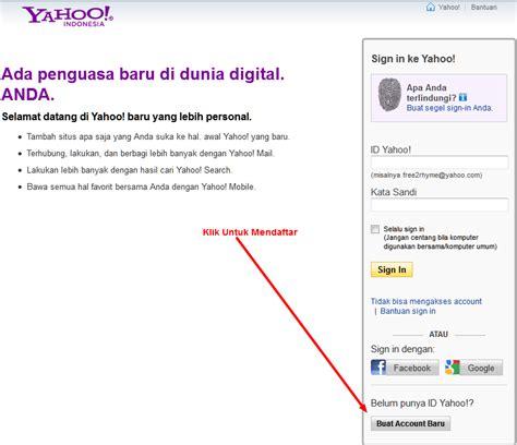 membuat alamat yahoo baru cara membuat email dengan mudah
