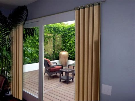 curtains for sliding doors ideas decorative curtains in doorways by your own hands ideas
