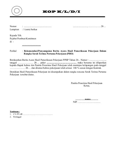 contoh berita acara pho proses ba pemeriksaan pek