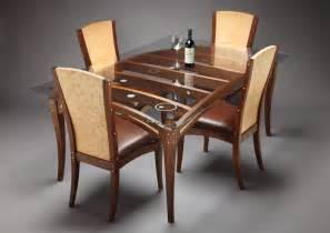 wooden dining table designs with glass top search
