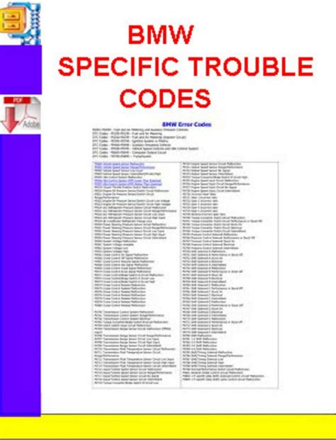 bmw trouble codes bmw specific trouble codes manuals technical
