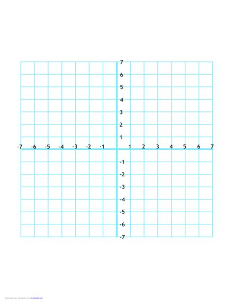 printable quadrant graphs numbered four quadrant grid 14x14 free download