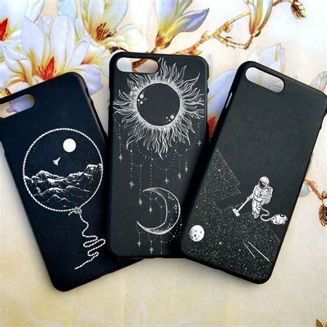 iphone  case tumblr moon space jar astronaut cat case  iphone  xs   se