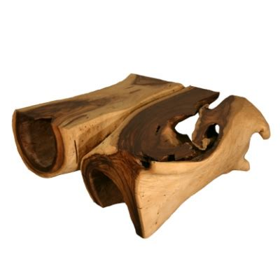eco1start monkey wood freeform coffee table